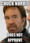 chuck norris does not approve.jpeg